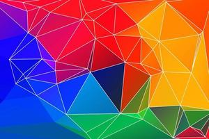 Colorful polygonal outline mosaic background
