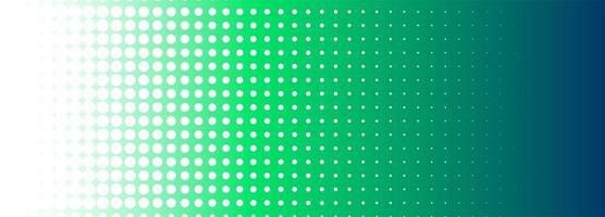 Abstract  halftone green banner