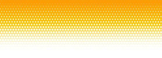 Orange and white halftone pattern banner