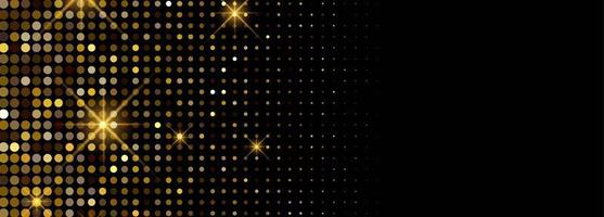 Luxury shiny golden glitters banner background