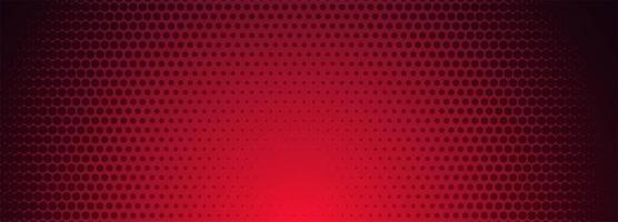 Red and black halftone pattern banner