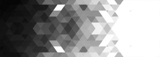 Abstract gray geometric banner background