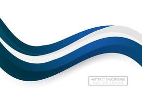 Fondo de onda de negocio que fluye azul