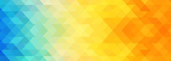 Abstract colorful geometric banner template background