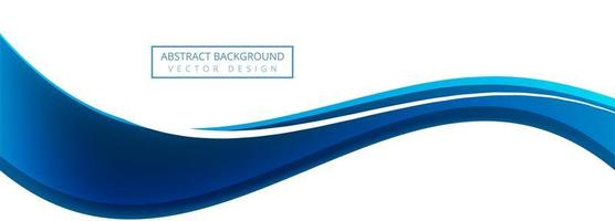 Blue creative business wave banner background
