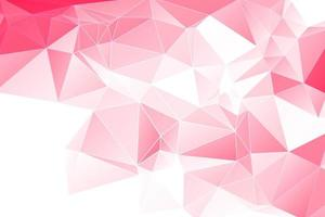 Pink Geometric White Outline Polygonal background