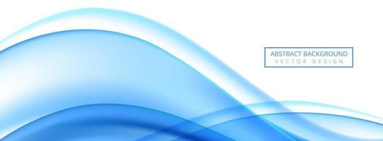 Modern flowing blue wave banner on white background vector