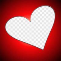 Recorte el fondo de la tarjeta de felicitación del día de San Valentín del corazón vector