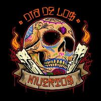 cranio di dia de los muertos