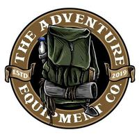 hiking bag badge vector