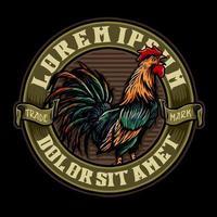 emblema del gallo vintage