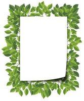 Green leaf blank border vector