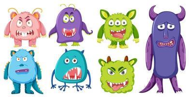 Set van monster karakter