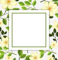 Plantilla de tarjeta de flor hermosa vector