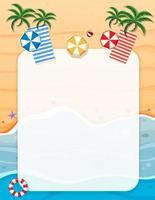 A summer beach border vector