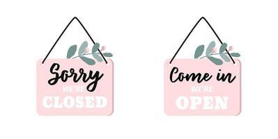 Set of Two Signs Sorry, wir sind geschlossen