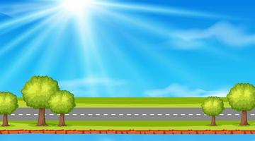 Empty nature road background vector