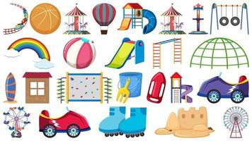 Set of playground elements vector