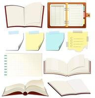 Set of blank book
