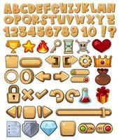 Alphabet et icône du jeu vecteur