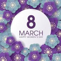 Purple and Blue Floral Women's day celebration  background vector