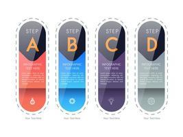 Diseño de plantilla de paso de carta de infografía vector