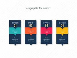 Infographic option card template design