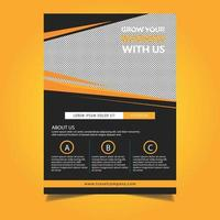 Orange Angle Design Business Cover oder Flyer Vorlage