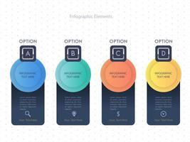 Diseño de plantilla de cuatro pasos de infografía