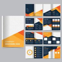 16 page business brochure template vector