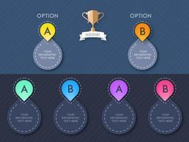 Infographic donkere kleur sjabloonontwerp