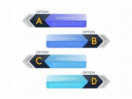 Design de modelo de opção de carta infográfico