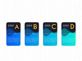 Infográfico azul passo modelo de design