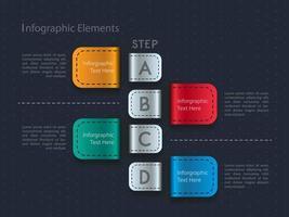 Design de modelo de carta de cor infográfico