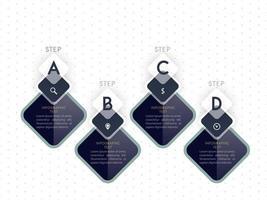 Diseño de plantilla de infografía en blanco y negro