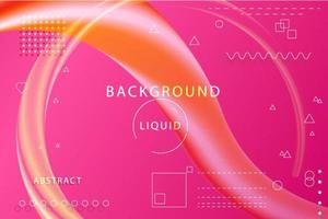 Geometric Pink and Orange Memphis Background