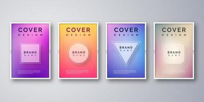 Kleurrijke vorm Cover Set