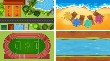 Aerial view of backgrounds vector