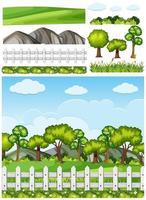 Set di sfondo di elementi di natura