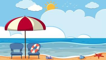 Scene of a beach
