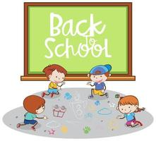 Back to School Banner with Students