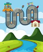 Family Road Trip Board Game Activity  vector