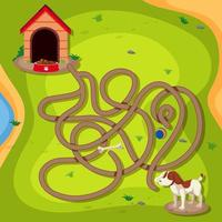 Dog finding way home game vector