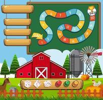 Um modelo de fazenda de jogos de tabuleiro