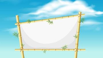 A nature bamboo board vector