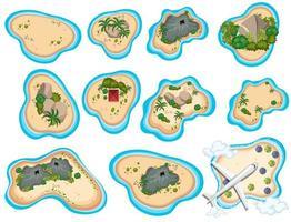 A Set of Beautiful Tropical Island