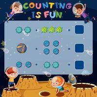 Math counting fun game vector