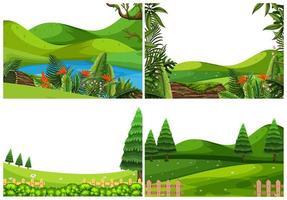 Set di scene del parco