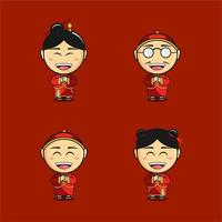 Chinese New Year cartoon icons