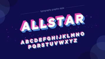 Retro Glitch Uppercase Font vector